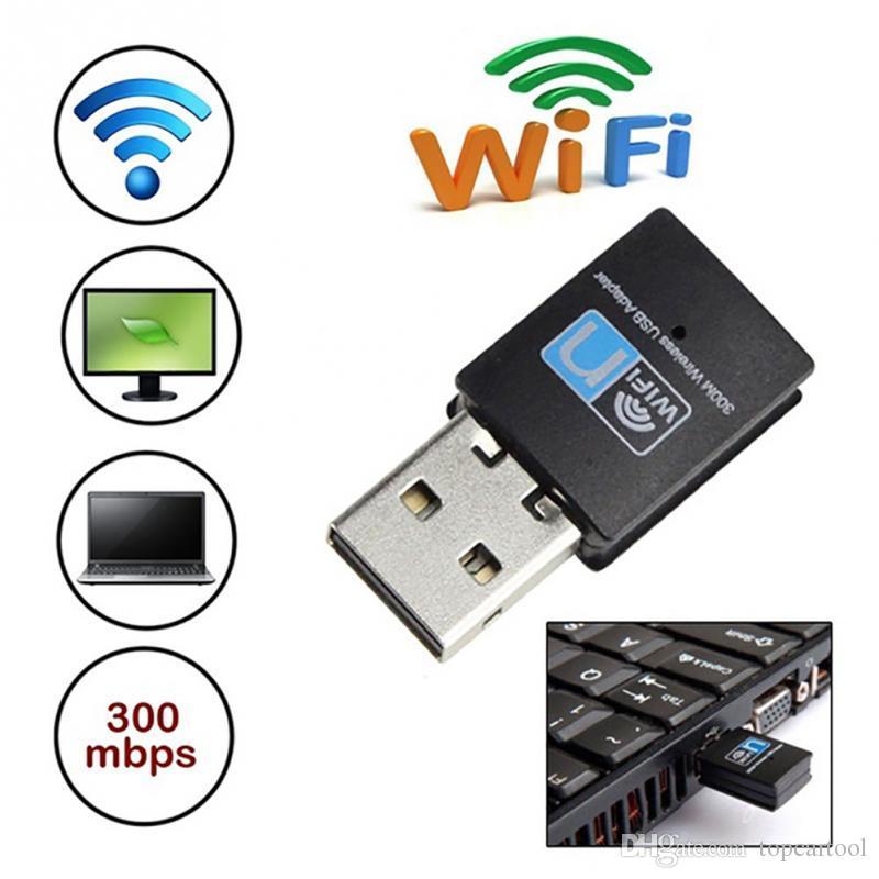 عالية السرعة 300Mbps ميني USB واي فاي محول لاسلكي 802.11 B / G / N بطاقة الشبكة LAN دونغل