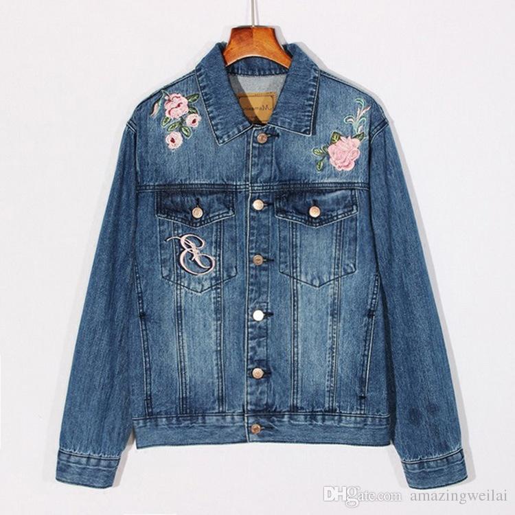 Großhandel Blume Schöne Fit Jean Stickerei Mantel Mädchen Frauen Mode Jeansjacke Damen Herbst Slim Für 22 Blau Jacke Amazingweilai42 Von Phoenix OilwkZTPXu