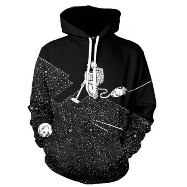 Toptan-Yeni Bahar Moda Erkekler / Kadınlar Uzun Kollu Hoodies Hip Hop Tarzı Serin 3D Baskı Sweatshirt Polluever