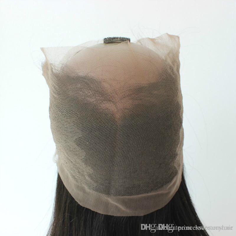 Meilleure qualité 360 Dentelle Frontale Avec Cheveux Bundles droite Brésilienne Péruvienne Indienne Malaisienne Vierge Cheveux Humains Tisse Fermeture Noir Naturel