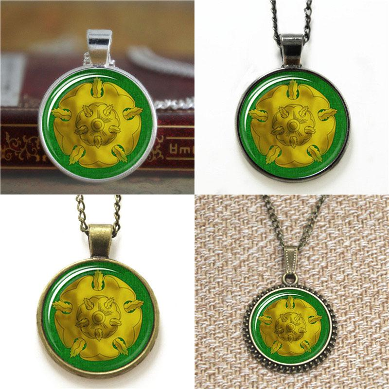 10pcs House Tyrell Rose Sigil Game of thrones Quote Glass Necklace keyring bookmark cufflink earring bracelet