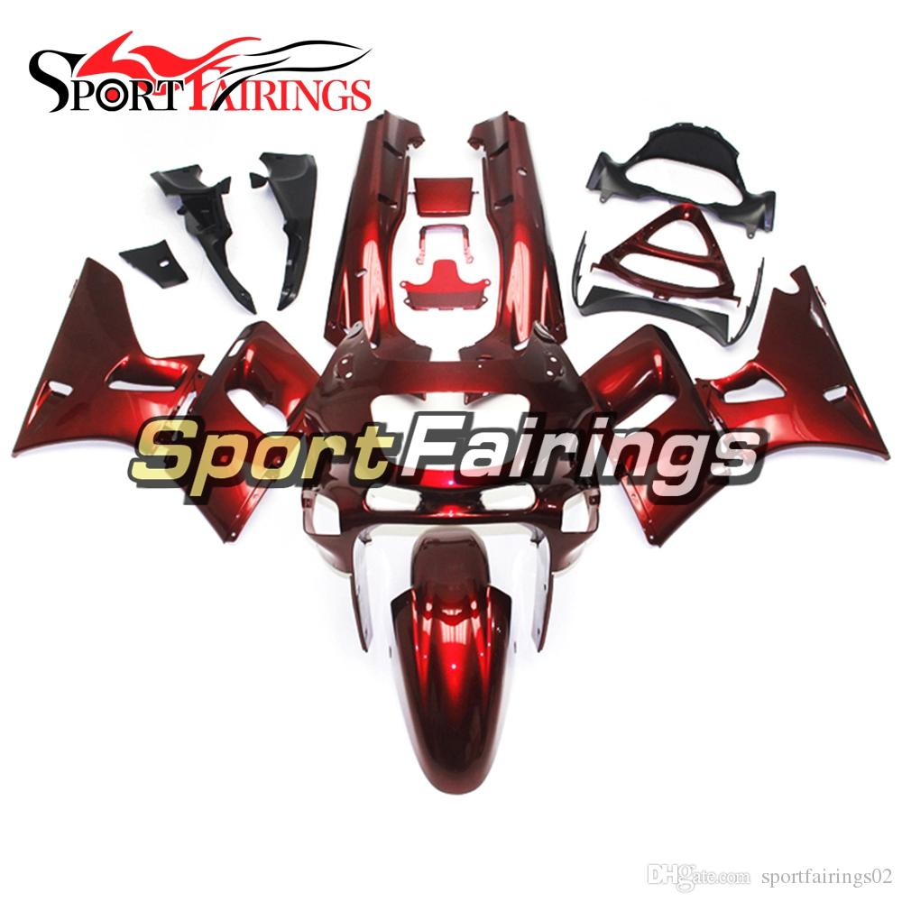 Injection Fairings For Kawasaki ZZR-400 1993 - 2007 94 95 96 97 98 99 00 01 ABS Plastic Complete Motorcycle Fairing Kits Cowling Red Pearl