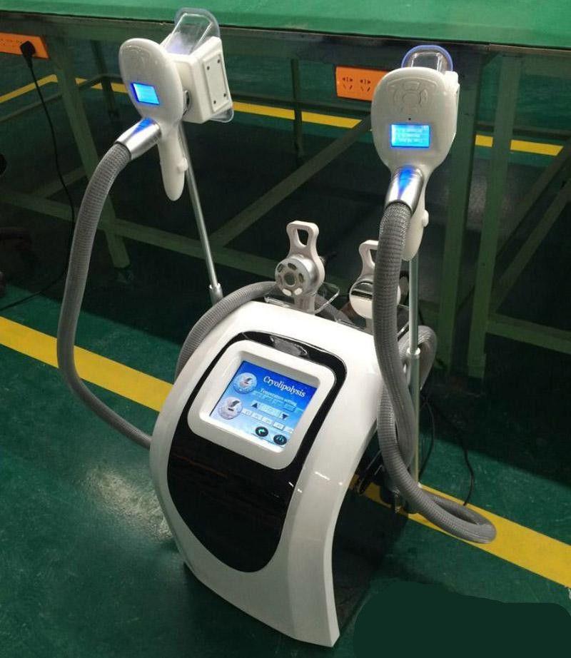 Profesyonel cryolipolysis iki kolu cihazı / taşınabilir cryolipolysis makinesi fiyat / Kavitasyon zayıflama makinesi