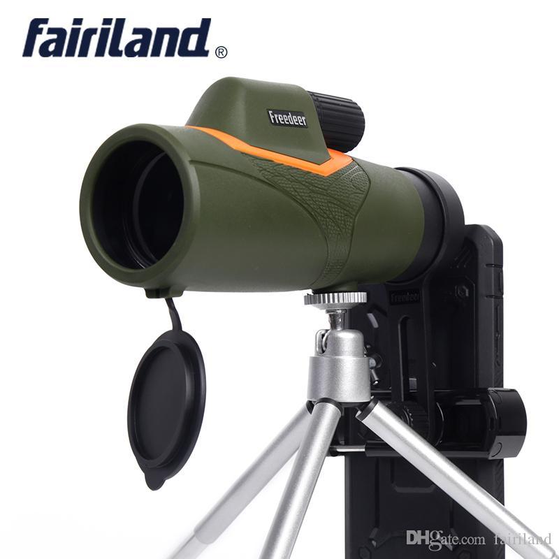 HD10X42 단안 망원경 BAK4 10X 단일 튜브 광학 야외 스포츠 eyepiece 사냥 캠핑 방수 승 / 스마트 전화 깎기 삼각대