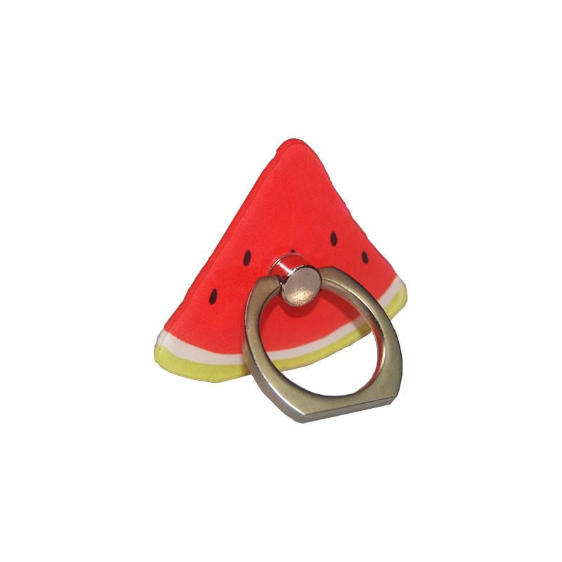 Wholesale -Mixed color fruit ring buckle phone stent creative flat support corporate activities gifts OEM custom lazy Bracket free shipping