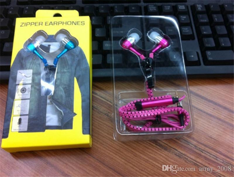 Металлическая молния стерео гарнитура с микрофоном наушники 3,5 мм общие наушники для Iphone4 5 6 Samsung S3 4 5 6 Note3 4