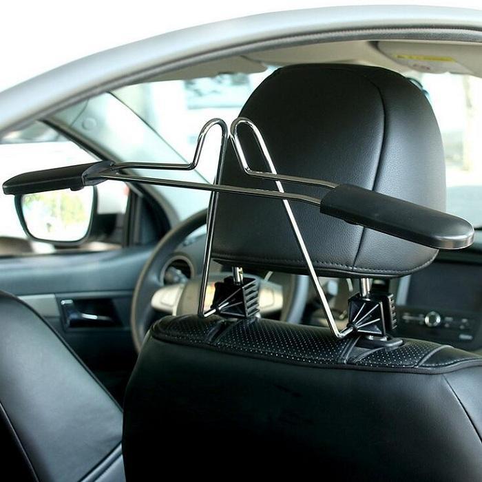 الشماعات سيارة للملابس معطف دعوى قابلة للتطوير مريحة مسند الرأس كرسي مقعد تخزين حامل رف الفولاذ المقاوم للصدأ
