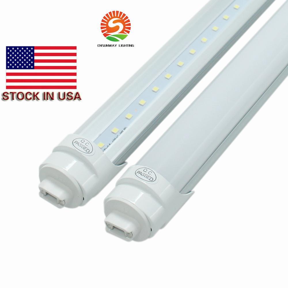 Estoque em T8 fábrica 8 pés 45W R17D levou luzes do tubo 2400 milímetros 192leds SMD2835 4800LM super brilhante levou AC85-265V luminária fluorescente