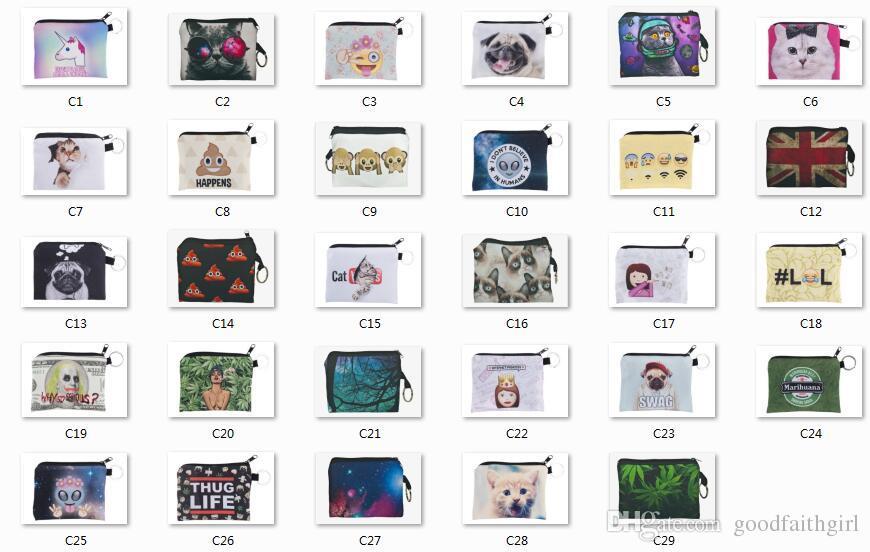 10pcs 29 Styles Children cute small Cartoon expression emoji Wallet Zipper Case Coin change Purse Pouch mini bag goodfaithgirl Free shippng