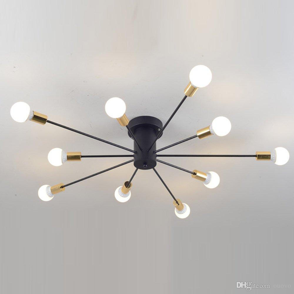 2019 Creative Iron Spark Living Room Ceiling Lamp Bedroom Spider Ceiling  Light Modern Nordic American Corridor Ceiling Light Fixtures From Ouovo, ...