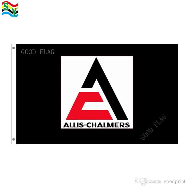 Размер 3x5ft 90*150cm Знамени флагов Allis-chalmers черный с grommet металла, напольным флагом