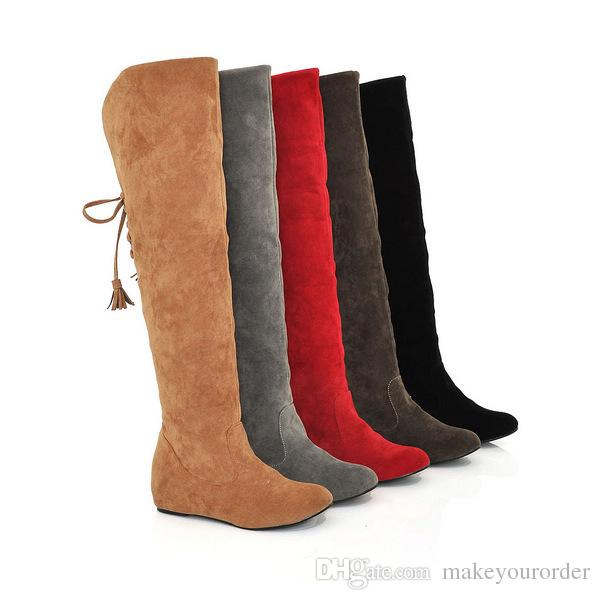 wholesaler free shipping factory price hot seller inner heel high heel Knee boot women sexy boot