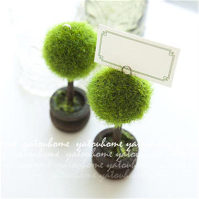 Free Shipment Green Topiary Place Card Holder Wedding Favors Photo Clip Holder Event Party Favor Anniversary Table Decor Birthday Idea Birthday Party Birthday Party Accessories From Weddingfavours 12 07 Dhgate Com