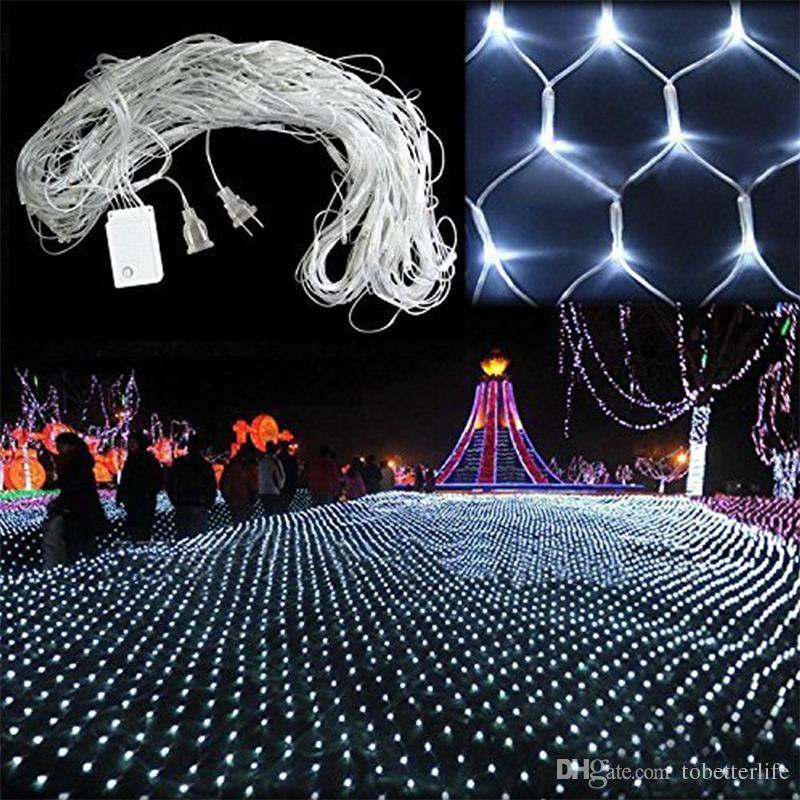 주도 NET에서 라이트 110V 220V 휴가 문자열 빛 1.5M * 1.5M 2m * 3m WARM WHITE RGBY 크리스마스 웨딩 요정 트윙클 장식 램프
