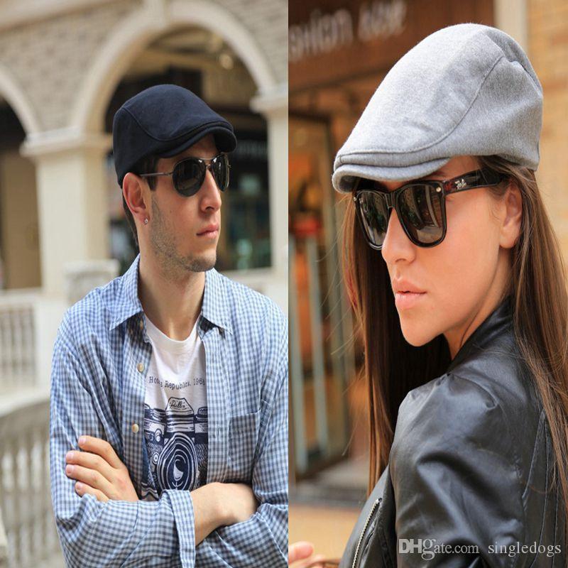 Newest Fashion Gentleman Octagonal Cap Newsboy Cap Unisex Men Berets Breathable Hats Flat Caps Free Shipping