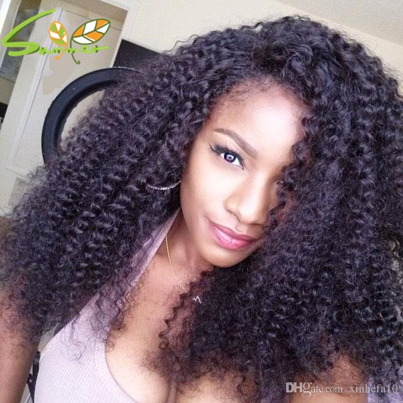 Hot Curly Lace Front Perücke Unverarbeitete reine brasilianische verworrene lockige Menschenhaarperücke für schwarze Frau Afro verworrene lockige volle Spitze Perücken