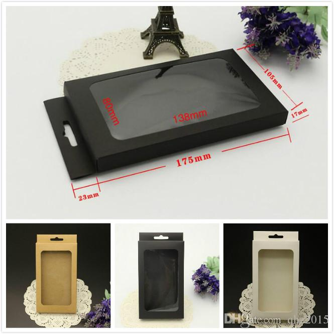 Universal Retro black white Paper Retail Package packing Box boxes for iPhone 7 5S 6 6S PLUS case Galaxy S7 S6 edge cover