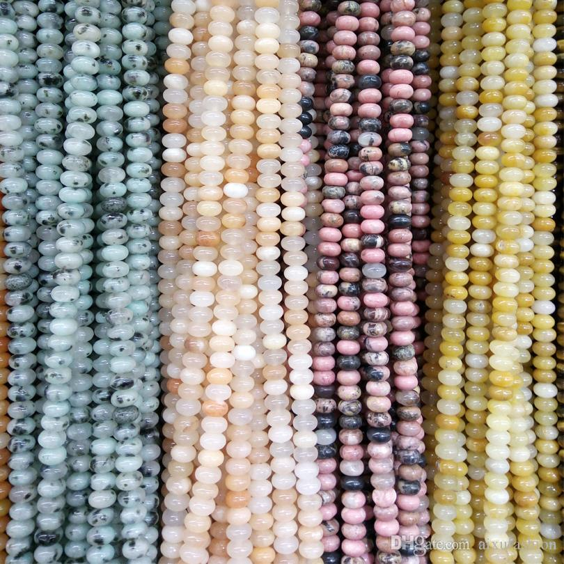 Oval Shape Oblate 5*8MM Natural Stone Beads Loose Beads for Charms High Quality Necklaces Bracelet DIY Fashion Jewelry Stone Bead 38cm/lot