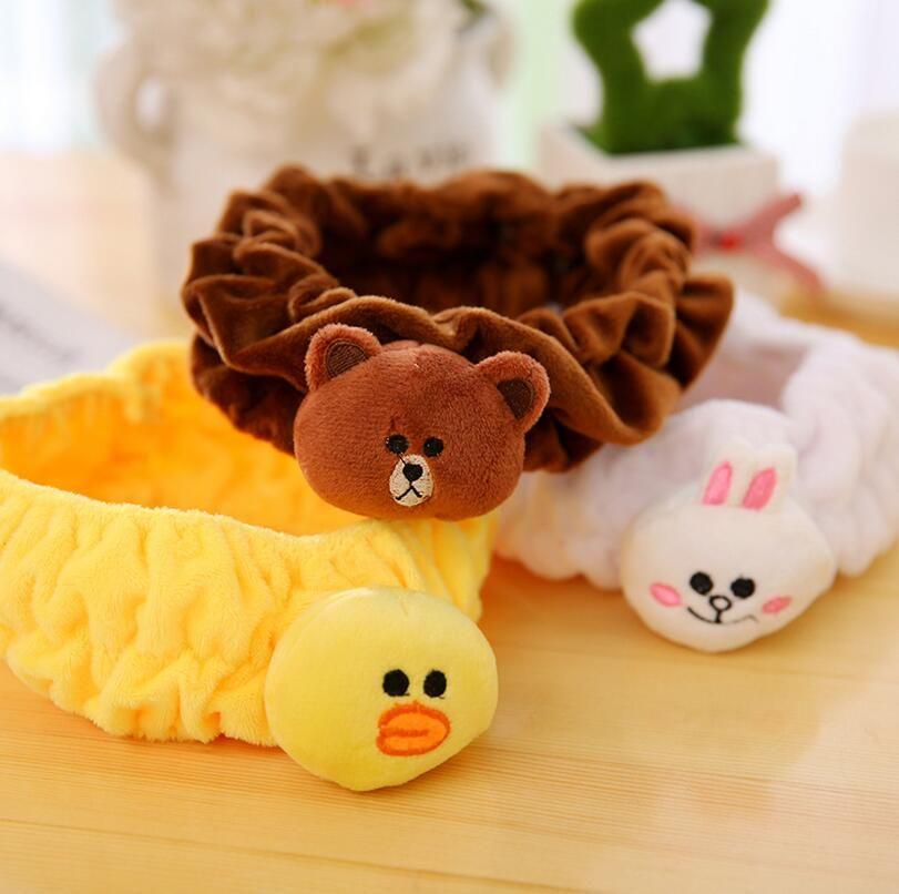 High quality Brown bear can be Ni rabbit Sally chicken bath hair with a make-up wash cartoon wash hair band TG184 mix order 30 pieces a lot
