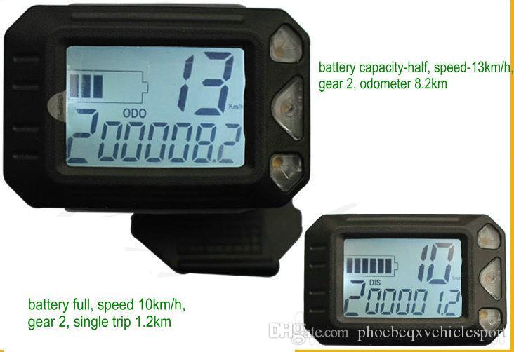 Écran LCD de petite taille avec le chargeur d'accélérateur de pouce pour le scooter électrique Ebike MTB SpeedView 36v48v250w350w -1000W