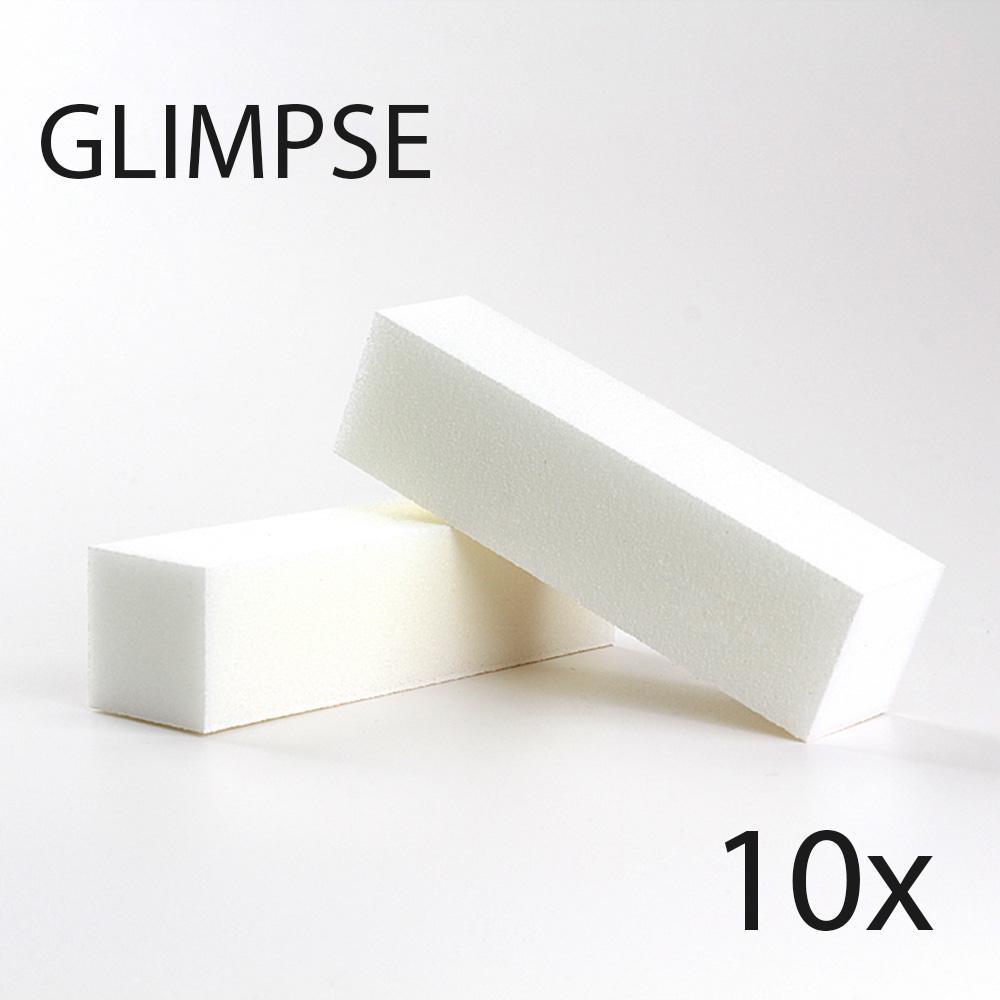 Оптовая продажа-проблеск 10 шт. белый пилочка для ногтей буферный блок хорошее качество полировка шлифовальные файлы педикюр маникюр уход за салон