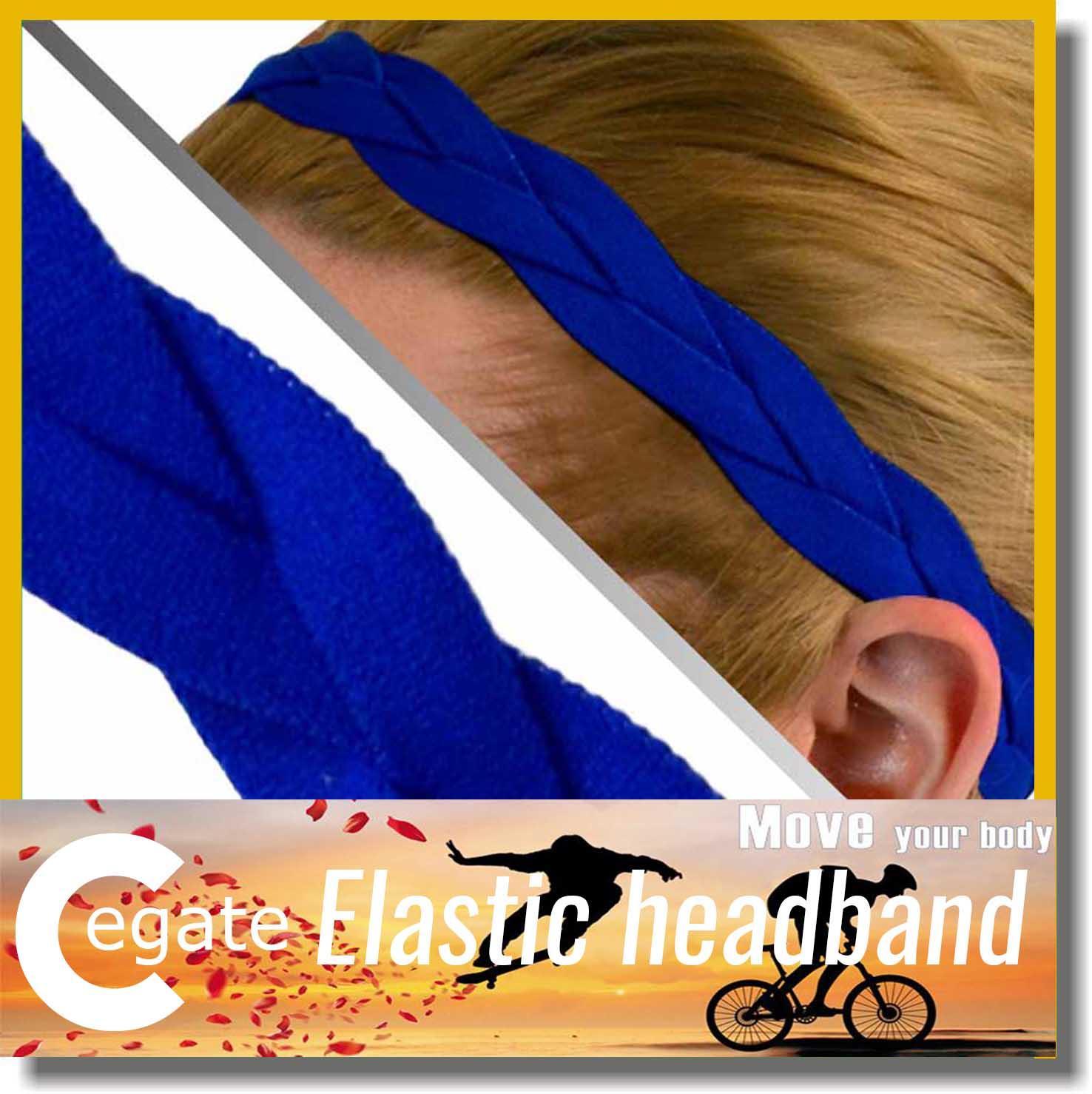 Non Slip Fashion Braided Yoga Headband Sports Elastic Braided Headband for women girl free shipping