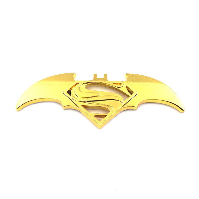 new 3D Cool Metal bat auto logo car styling car stickers batman superman badge emblem decal motorcycle car accessories