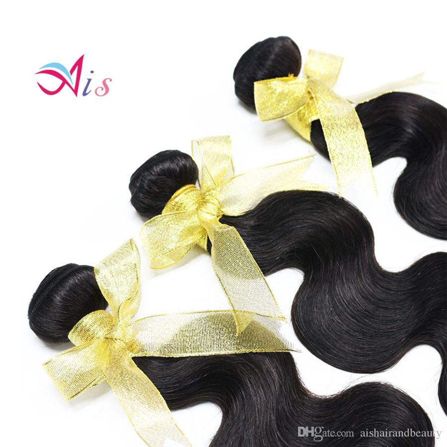 Najniższa cena Nieprzetworzone 7a Indian Peruwiański Malezja Brazylijski Włosy 3 Włoski / partia Ciało Wave Włosy Włosy Pełna Head Hair Extensions