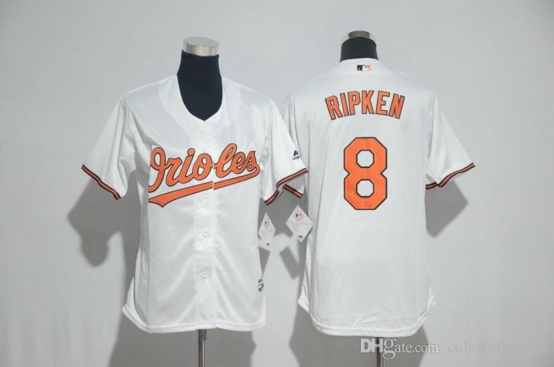 725d83e16 Women Baltimore Orioles 8 Cal Ripken 13 Manny Machado Baseball Jersey  Orange Black Authentic ...