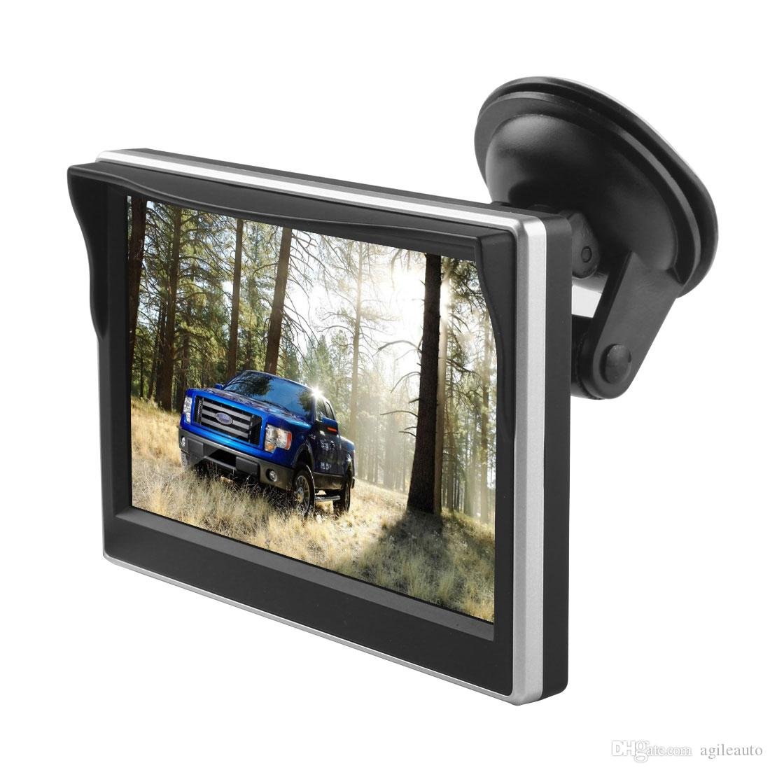 5 Inch TFT LCD Screen 480 x 272 HD Digital Color Car Rear View Monitor Support VCD/DVD/GPS/Camera CMO_396