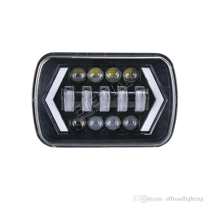 20pc 90W 5x7 (6x7)offroad headlight H4 headlamp running lights amber turn signal off road wrangler truck trailer tractor 4x4 vehicle auto