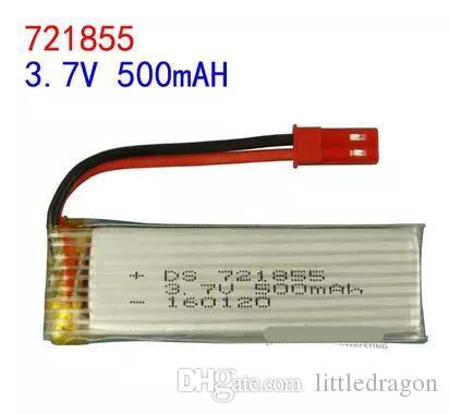 Envío gratis 3.7 V 721855 500 mAh u818A batería de avión de la batería del li-polímero Baterías recargables