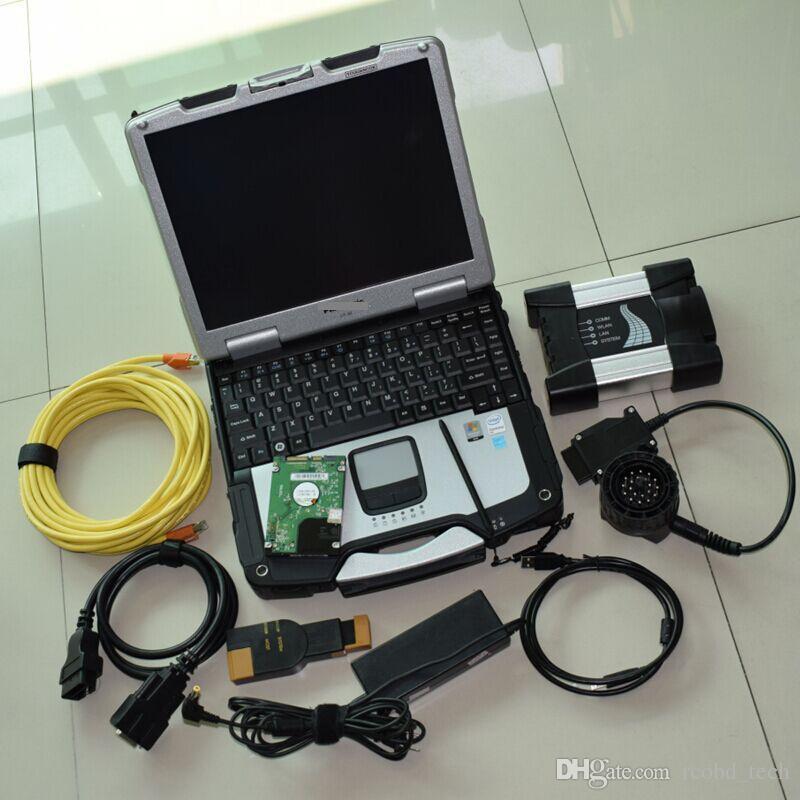 Pour l'outil de programmation de diagnostic BMW ICOM suivant avec CF30 Toughbook 4GB Ordinateur portable 500 Go ISTA D / P Multi language