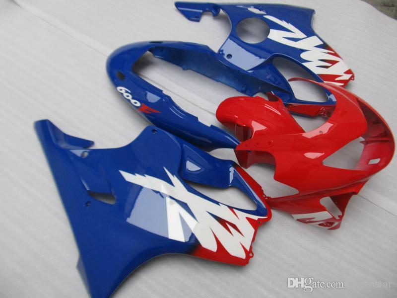 혼다 CBR600 F4 1999 2000 빨강, 파랑, 몸 정형 무료 Customzed 사출 성형 페어링 부품 99 00 CBR600F4 설정
