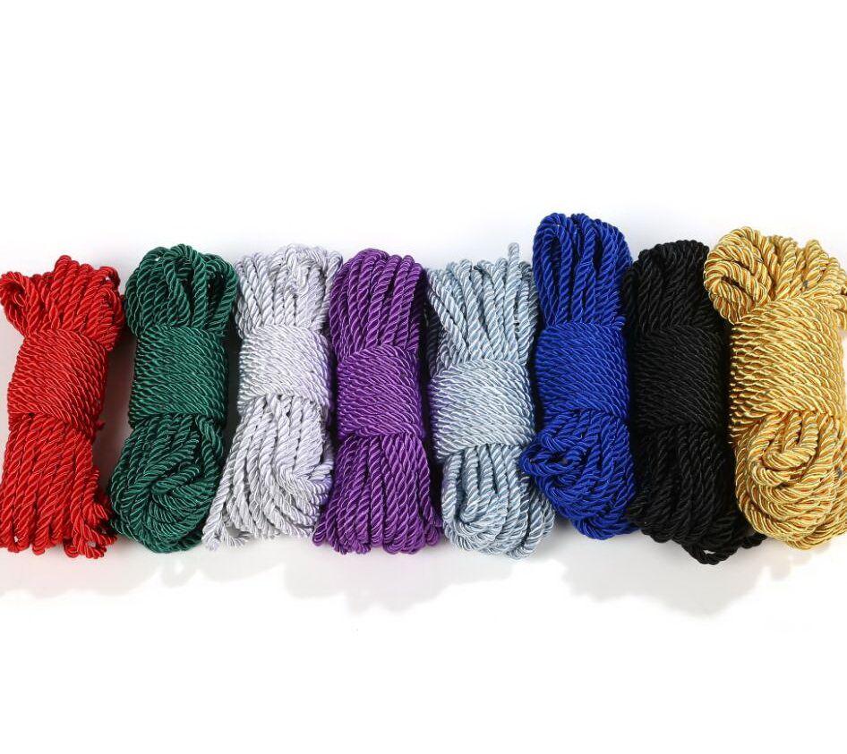 bdsm sex toys bundled cord cordino di seta Lunghezza corda 10M diametro 6 mm gioco di giocattoli sessuali
