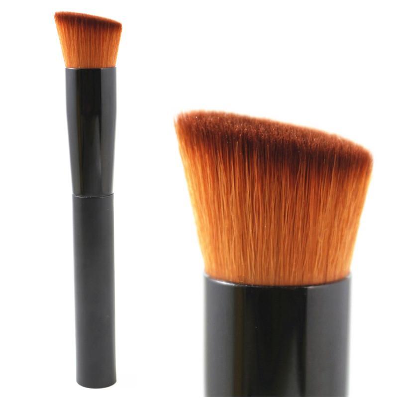 専門の顔の化粧ブラシangledされた平らな丸粉の財団の赤面ブロンザー輪郭ハイライトビューティー歌舞伎ブラシツール