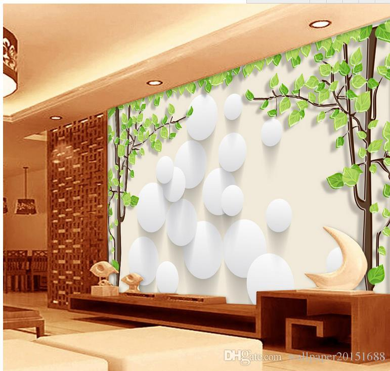 3d Background Wall Tree Circle Mural 3d Wallpaper 3d Wall Papers For