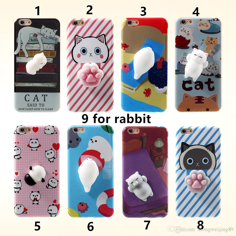 Cover iphone 5 squishy - I6 I6s I7 I7 Funny Cute Cat Squishy Mobile Phone Case For Iphone 6 6plus 5