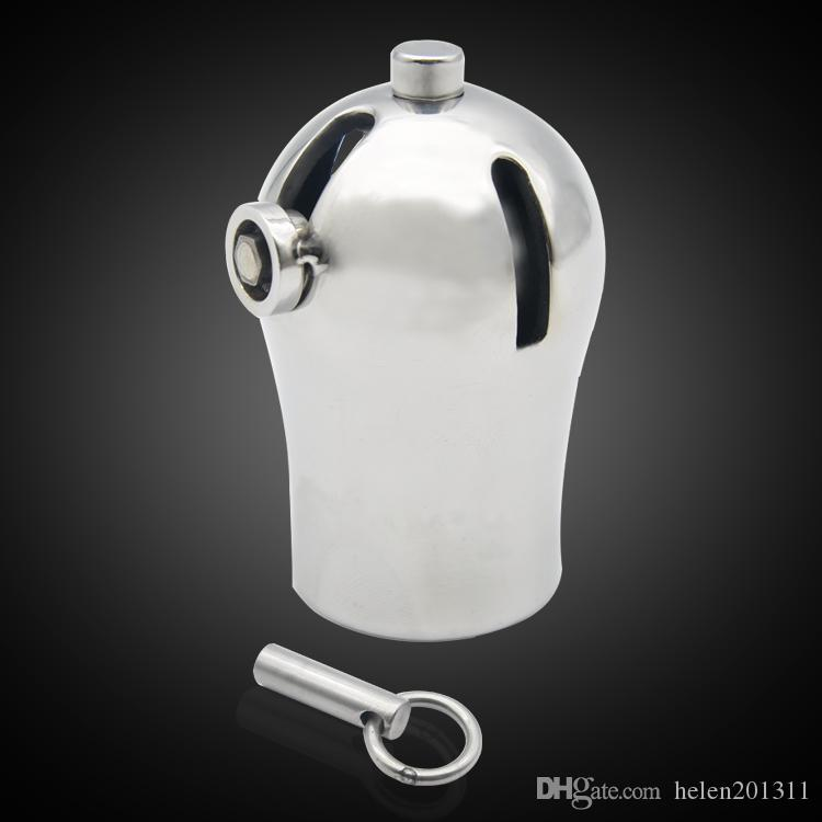 Homme luxe Cage Chastity en acier inoxydable avec dispositif titane Plug and PA CD116