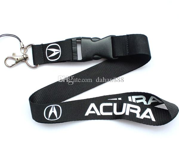 Wholesale 10 pcs Popular car logo Mobile phone Lanyard Removable Key Chains Badge Pendant Party Gift Favors C-029