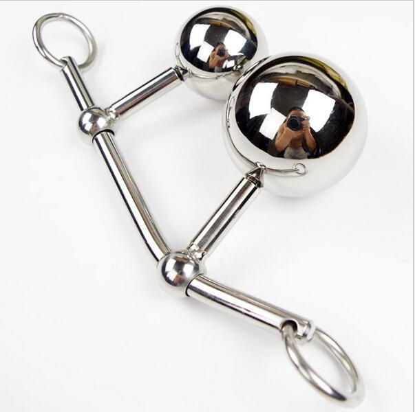 Нержавеющая сталь полый крюк анальный мяч с петушиным кольцом мужчины анальный секс Plug целомудрие устройство двойные шары инструменты для укладки попки игрушки женское целомудрие
