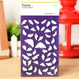 2019 Wholesale Angel Wings Shape Felt Fabric 3D Design Sticker Set  Scrapbooking Notebook Decoration DIY Craft From Aldrichy, $32 63 |  DHgate Com