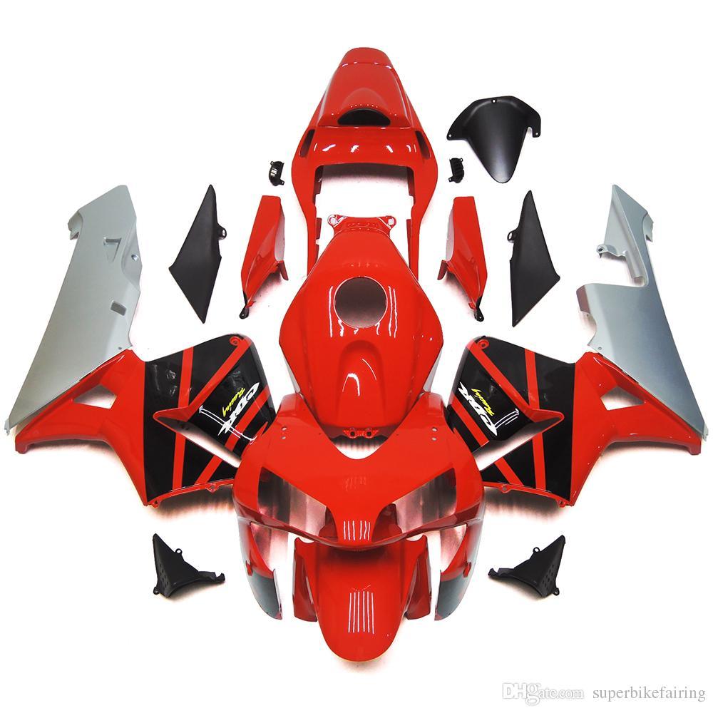 3 gift New Hot ABS motorcycle Fairing kits 100% Fit For Honda CBR600R F5 2003 2004 CBR600 600RR 03 04 bodywork set nice Black white red u4