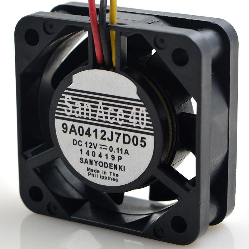 for SANYO sanyo 4CM 4015 12V 0.11A 9A0412J7D05 Double Ball Cooling Fan