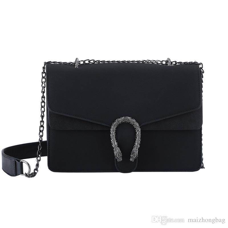 дизайнерские сумки женские сумки через плечо сумки на одно плечо матовая змея голова цепочка тотализатор клатч кошельки