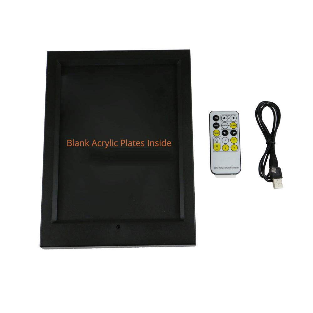 LED Photo Frame with Blank Acrylic Plate 7 RGB Lights IR Remote 7th Battery or DC 5V Factory Wholesale CE FCC Free Shipping