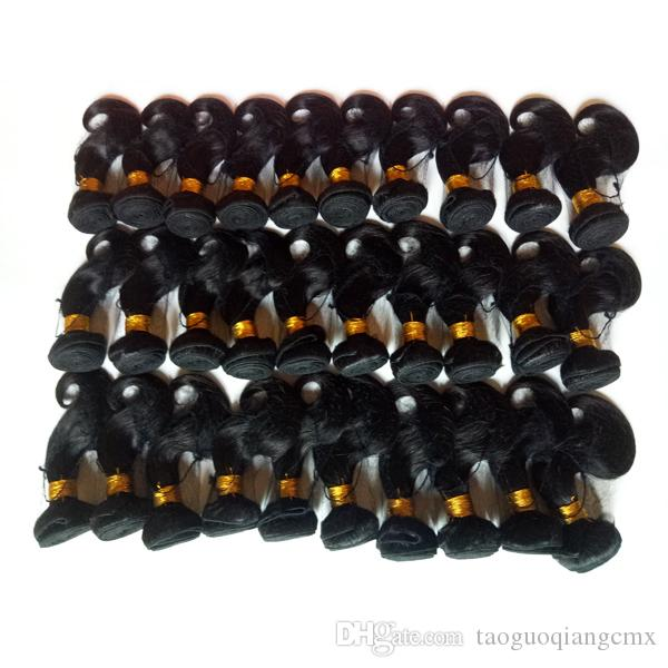 Short bob style 8-12inch Natural black Malaysian virgin body wave hair double weft can be dyed sexy Mink Peruvian Indian Remy hair extension