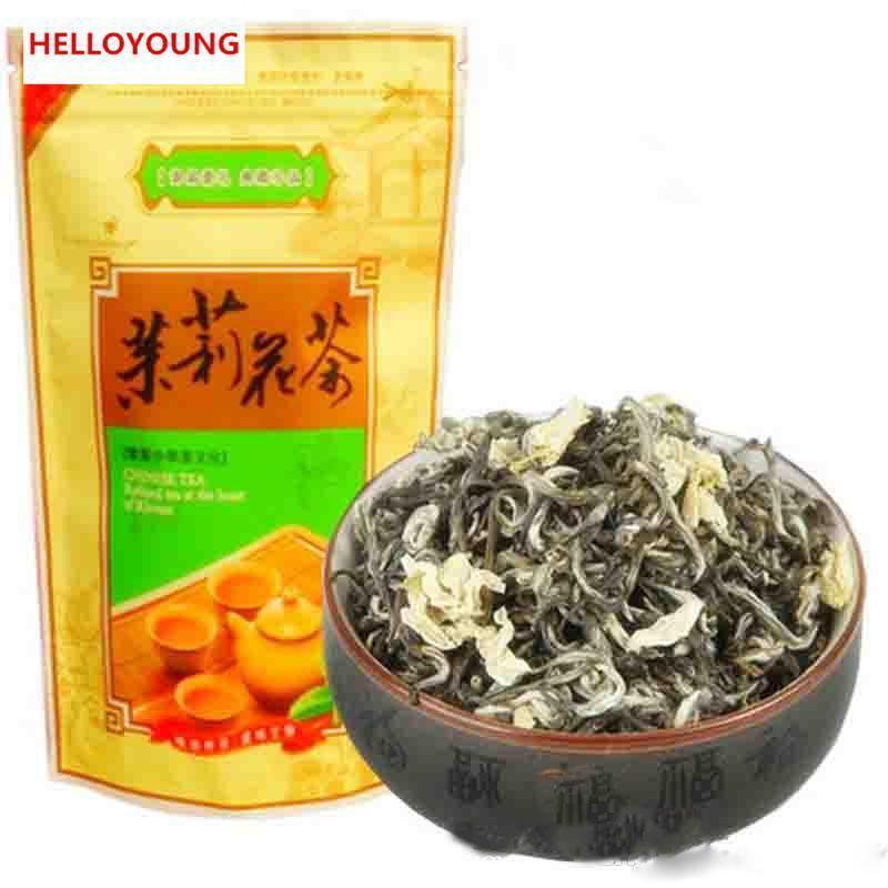 Preferencia 50g orgánico chino del té verde de Huangshan Maofeng Jasmine Fragance Raw Tea Cuidado de la Salud Nueva Primavera Té Verde de Alimentos
