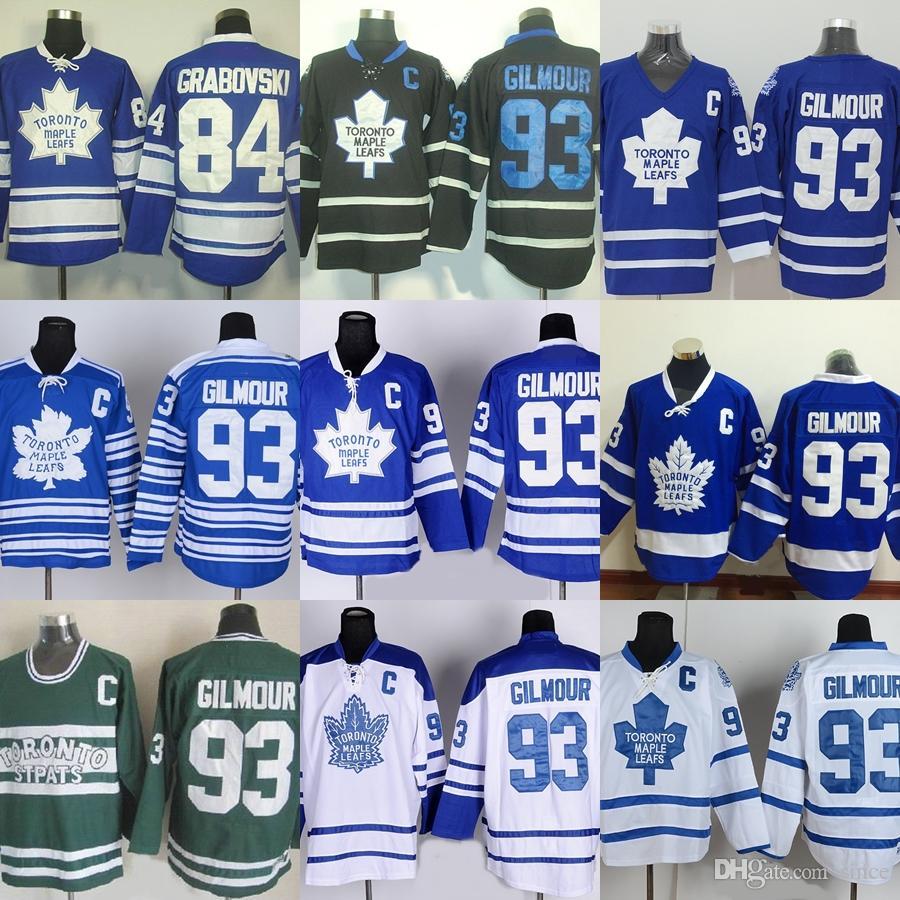 Фабрика Outlet мужская Торонто Maple Leafs #84 Grabovski #93 Gilmour синий белый черный зеленый новые горячие продажа лучшие хоккейные майки бесплатная доставка