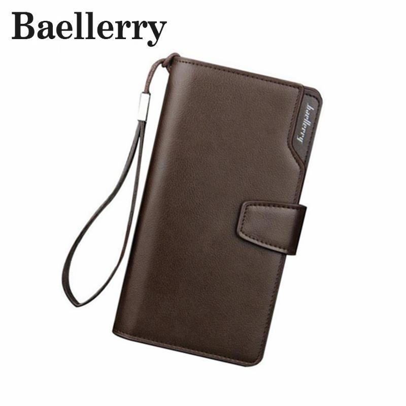 حقائب بالجملة، Baellerry رجال أزياء محافظ محفظة رجالية عادية الفاصل المحفظة حقيبة جلد طويل المحفظة تصميم اليد للرجال محفظة DB5715